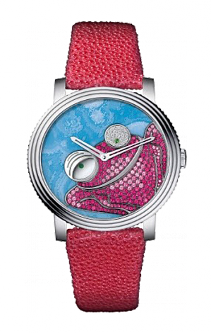 Boucheron Crazy Jungle Frog in White Gold 42mm WA010205