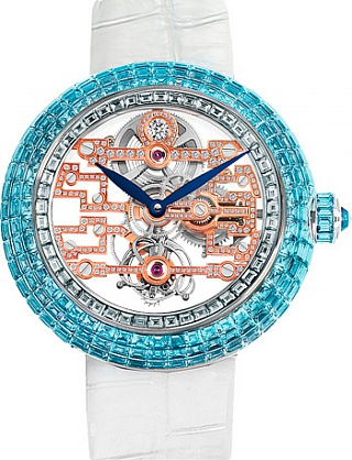 Jacob & Co. Watches High Jewelry Masterpieces BRILLIANT ART DECO SKELETON TOURBILLON BT545.30.BC.RB.A