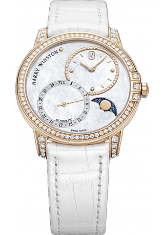 Harry Winston Midnight Date Moon Phase Automatic 36mm MIDAMP36RR001
