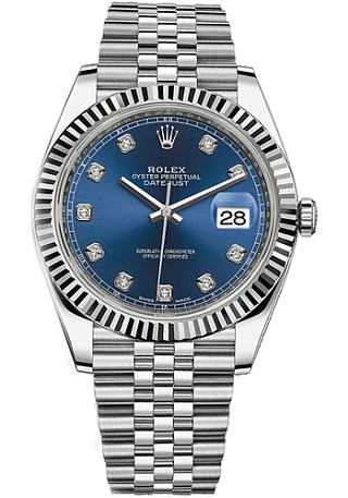Rolex Datejust 36,39,41 mm 41mm Steel and White Gold 126334-0016