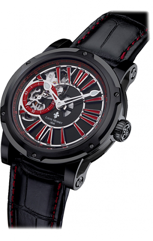 Louis Moinet Metropolis Black Red LM-45.10.52