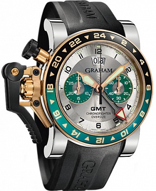 Graham Chronofighter Oversize GMT Silver BRG Steel & Gold 2OVGG.S06A.K10S