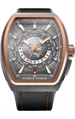 Franck Muller Vanguard World Timer GMT V45 TT 5N GMT