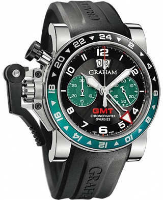 Graham Chronofighter Oversize GMT BRG Steel 2OVGS.B12A.K10B