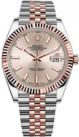 Rolex Datejust 36,39,41 mm 41 mm Steel and Everose gold 126331