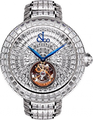 Jacob & Co. Watches High Jewelry Masterpieces Brilliant Flying Tourbillon Baguette Bracelet BT543.30.BD.BD.B30BA