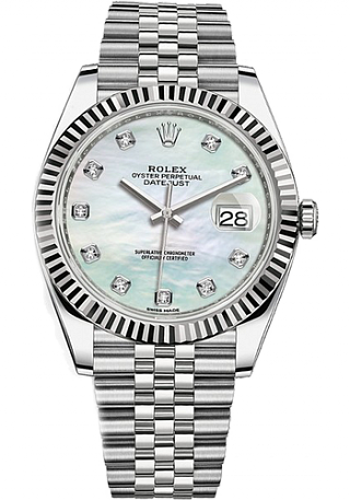 Rolex Datejust 36,39,41 mm 41mm Steel and White Gold 126334-0020