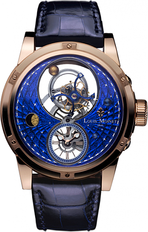 Louis Moinet Limited editions 46 mm Space Mystery Rose gold