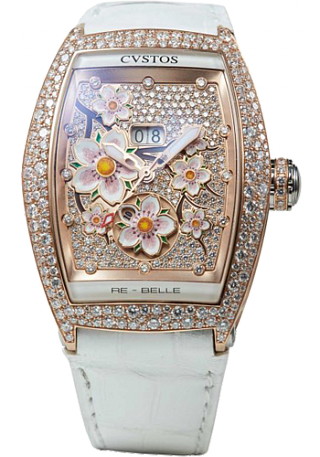 Cvstos Re-Belle Sakura red gold diamond snow setting diam