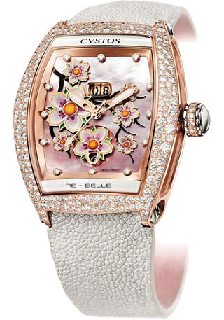 Cvstos Re-Belle Sakura red gold diamond snow setting
