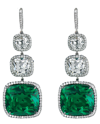 Cushion Cut Emerald Earrings 91224400 Jacob Co Jewelry