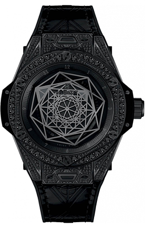 Hublot Big Bang Unico Sang Bleu All Black Pavé 415.CX.1114.VR.1700.MXM17