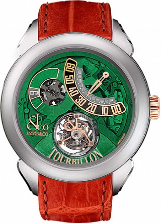 Jacob & Co. Watches Grand Complication Masterpieces PALATIAL FLYING TOURBILLON JUMPING HOURS PT510.24.NS.PG.A