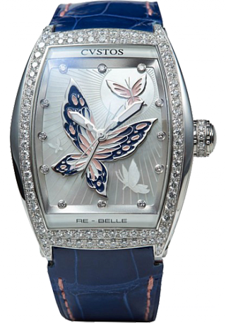 Cvstos Re-Belle Papillon  steel diamond rose blue butterfl