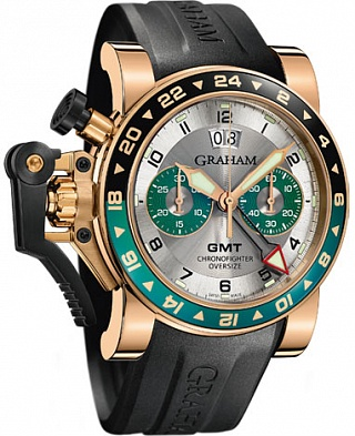 Graham Chronofighter Oversize GMT Silver BRG Gold 2OVGR.S06A.K10B